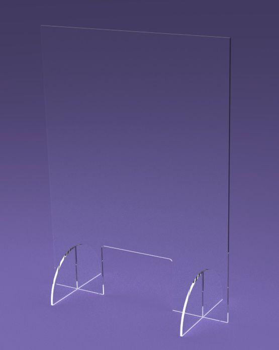 osłona z plexi z otworem na ladę 37x50cm