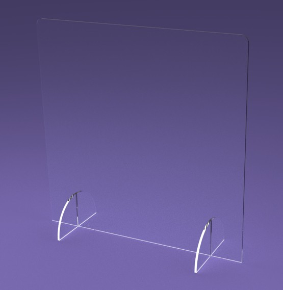 osłona z plexi na ladę 50x50cm