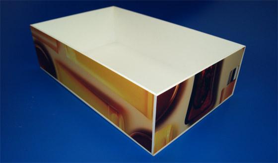 pudełko z pcv spienionego